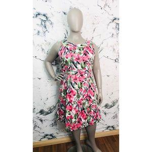 Addition Elle Floral Midi Dress Women Plus Size 18